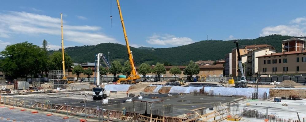 Ecco cosa resta dello stadio di Bergamo Via alla ricostruzione. La foto del cantiere