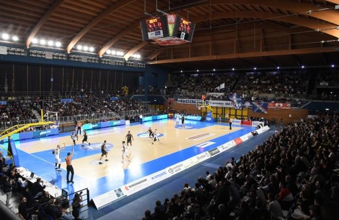 PalaFacchetti di Treviglio durante il match di basket tra remer e Bergamo Basket