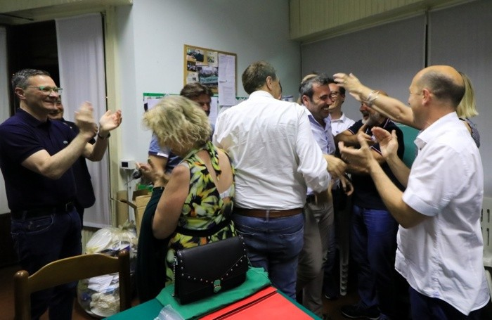 DALMINE Francesco Bramani festeggia l'elezione