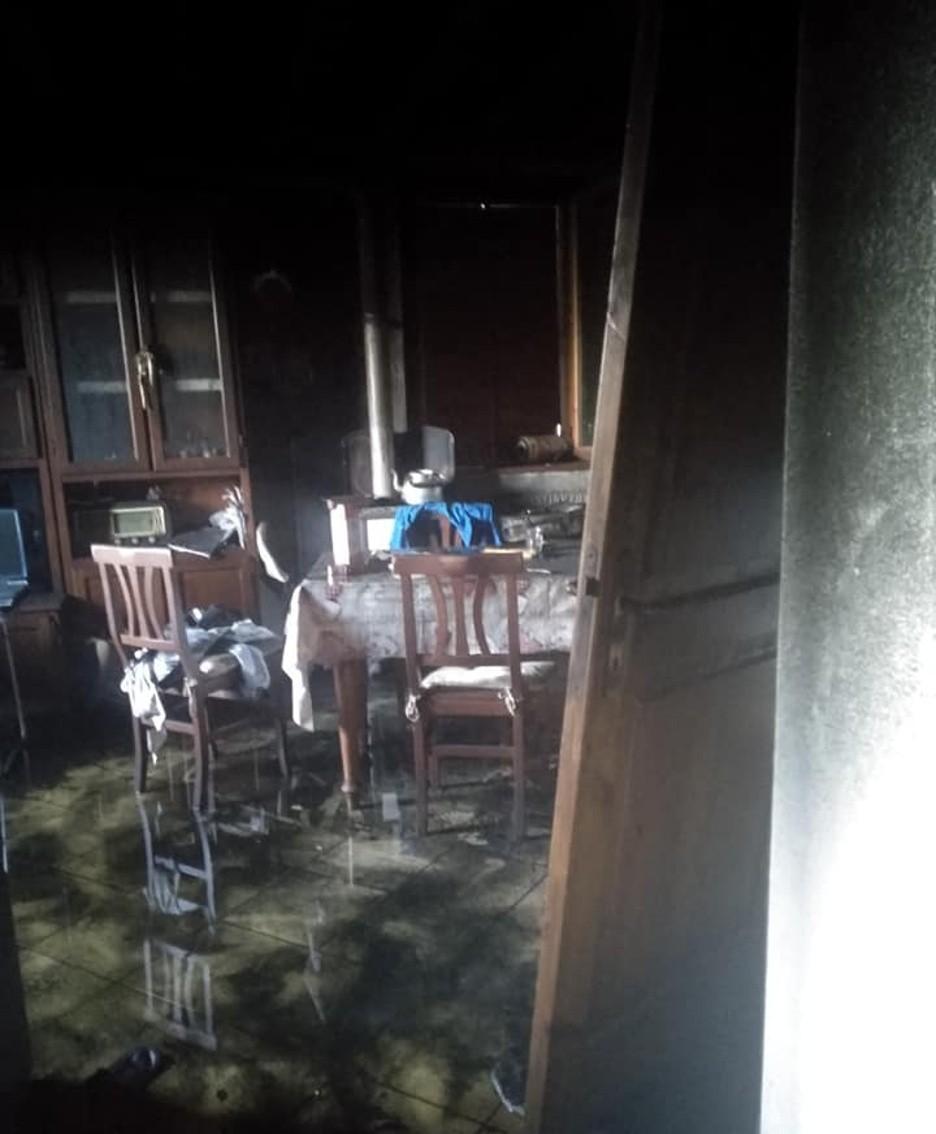 La casa distrutta a Casale di Albino