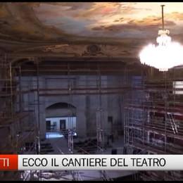 Teatro Donizetti: i lavori al giro di boa