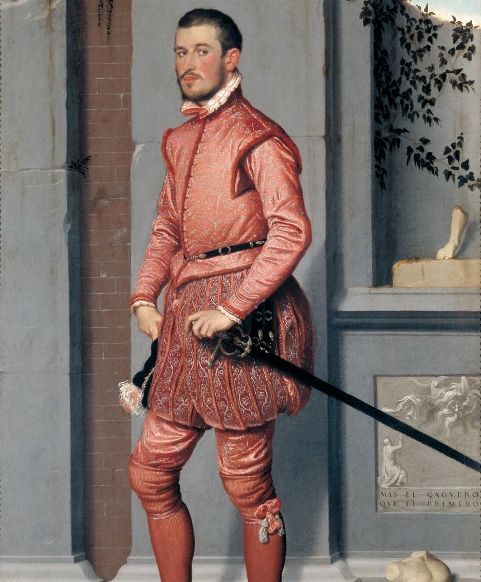 «Il Cavaliere in rosa» di Moroni