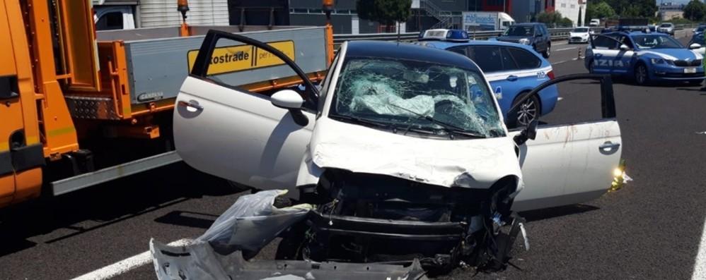 Dalmine, incidente lungo l'A4 Morta una donna, un ferito grave