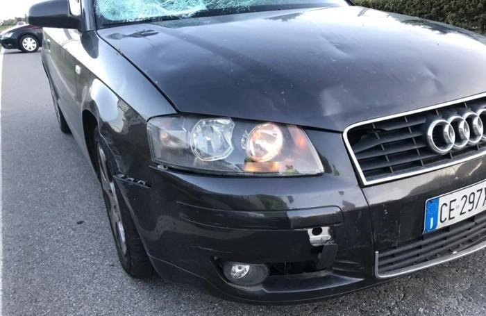 L'Audi A3 che ha travolto l'appuntato Anzini