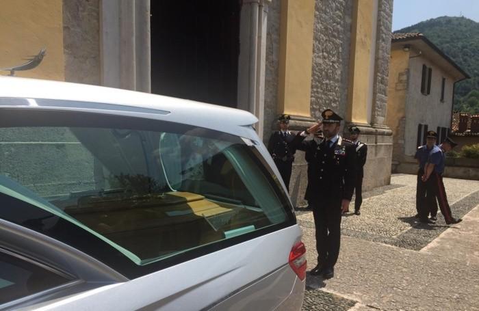 Il saluto del colonnello Paolo Storoni, comandante dell'Arma dei carabinieri di Bergamo