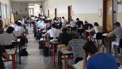 Maturità la prima prova Studenti in classe