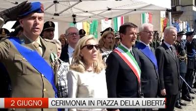 Festa della Repubblica, la cerimonia in piazza della Libertà