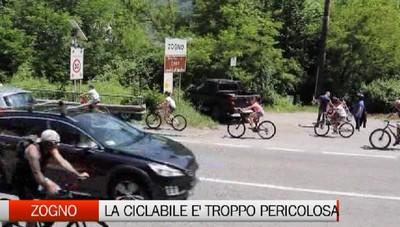 Ciclabile di Zogno, un video per testimoniare la pericolosità e un progetto per ridurre il rischio di incidenti