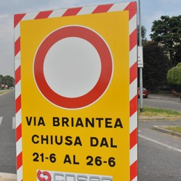 Briantea chiusa, mattinata di code Lo stop al traffico fino al 26 giugno