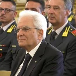 La Guardia di Finanza premia Slavazza La visita dal presidente Mattarella