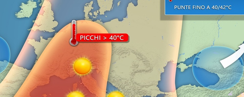 Bergamo, da giovedì picchi di 39-40° L'esperto: ci attendono notti tropicali