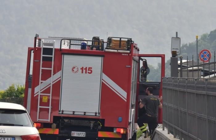L'intervento dei Vigili del fuoco alle Buche di Nese