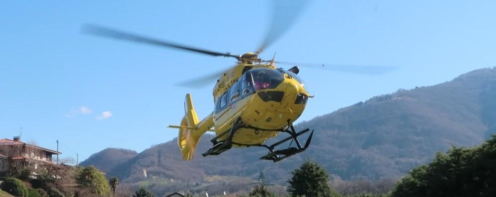 Valbondione, precipita una donna Volo di 15 metri, soccorsa con l'elicottero
