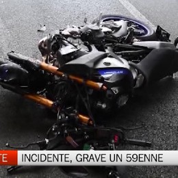Casirate d'Adda, incidente in moto: grave 59enne di Rivolta