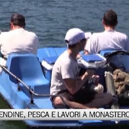 Lago di Endine, tra pesca e lavori al parco Biali di Monasterolo