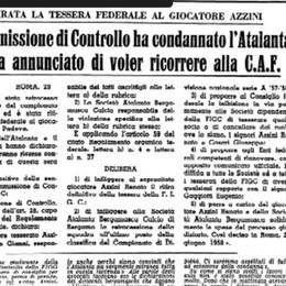 Atalanta, la bufera del '58. 3-0 a Padova, le accuse, la serie B. E domani i verbali