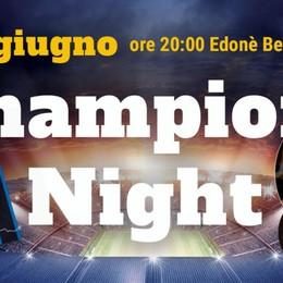 Champions Night all'Edoné La festa di Corner, segui qui la diretta