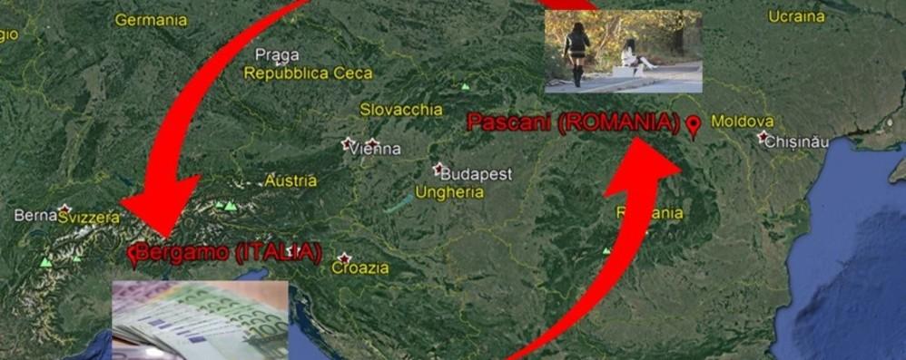 Donne romene a Bergamo con l'inganno Operazione antiprostituzione, otto fermi