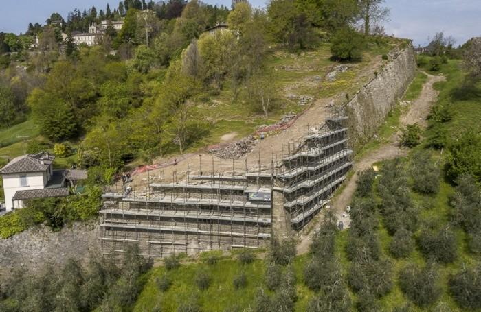 Il baluardo di Valverde dove sono state restaurate le Mura