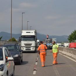 Partono i lavori per il viadotto Una corsia in meno ed è già coda