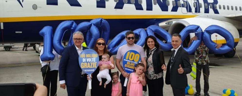 Ryanair, 100 milioni di passeggeri a Orio «In 10 anni turismo aumentato del 70%»