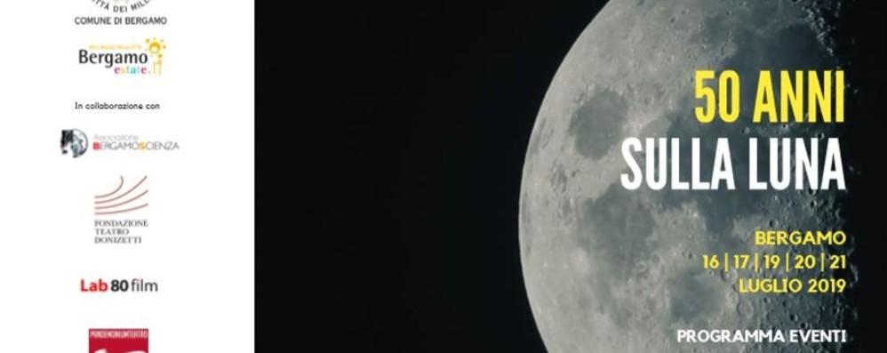 I 50 anni dallo sbarco sulla luna L'astronauta Guidoni  a Bergamo