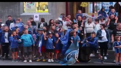 La festa dei tifosi atalantini a Clusone