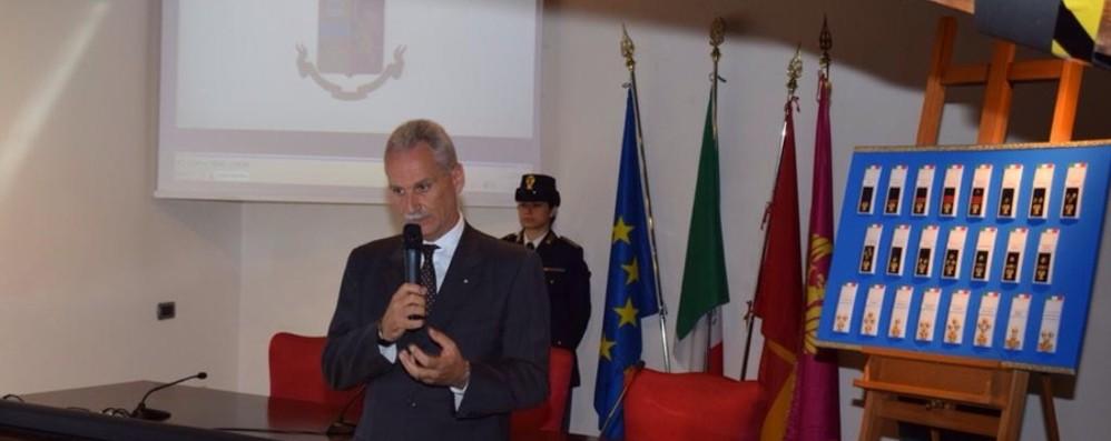 Presentati anche a Bergamo i nuovi distintivi della polizia di Stato