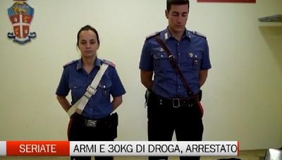 Seriate, droga e armi in casa. Arrestato albanese