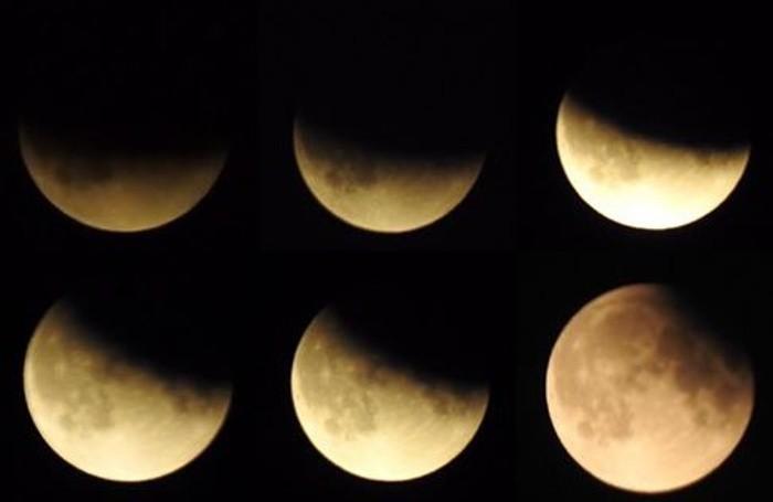 Le fasi dell'eclissi di luna