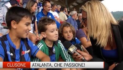 L'Atalanta a  Clusone, la passione dei tifosi