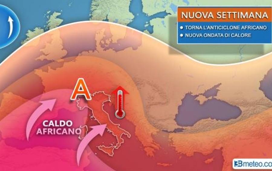 Meteo, torna l'anticiclone subtropicale Da mercoledì a Bergamo 35-36°