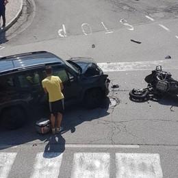 Almenno, scontra fra auto e moto Gravi  due motociclisti - Foto e video