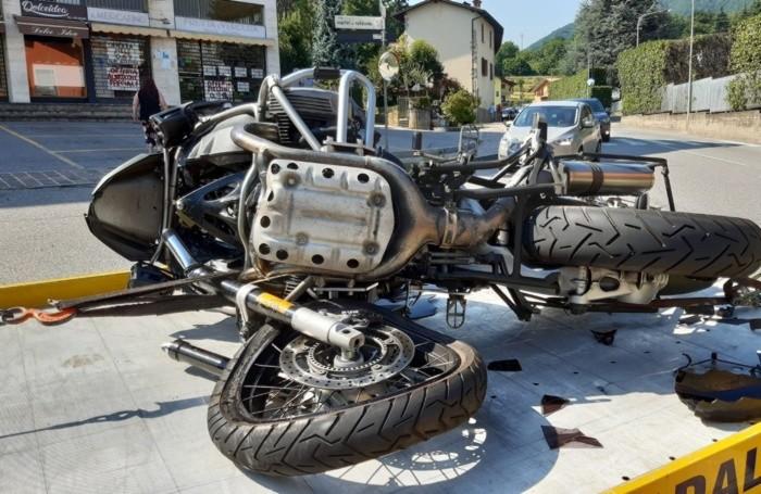 La moto (foto Yuri Colleoni)