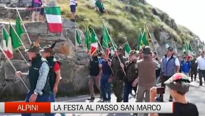 La festa degli alpini al passo San Marco