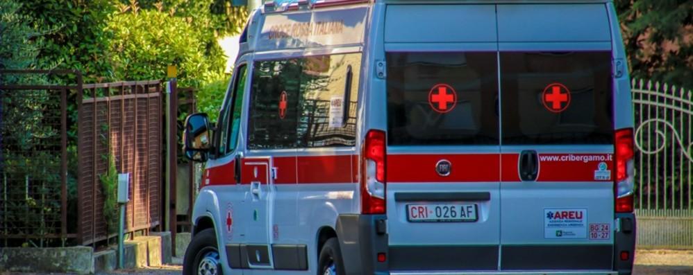Ragazzino investito, paura  a Stezzano Portato in ospedale in codice giallo
