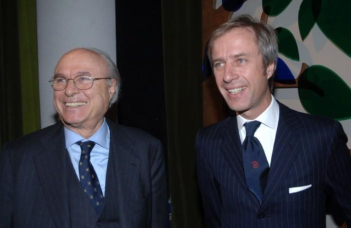 Giampiero Pesenti (sinistra) e il figlio Carlo