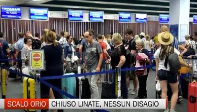 Chiuso Linate: 500 passeggeri sullo scalo di Orio, test organizzativo superato