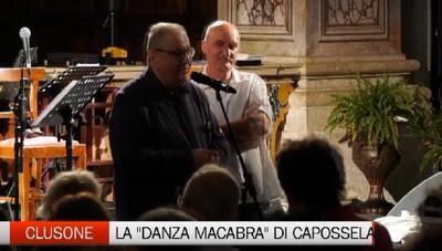 «Danzante e macabra»  Capossela (e Mollica) a Clusone