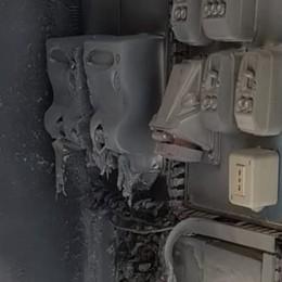Fulmine colpisce i contatori Enel Temporale e incendio a Vertova