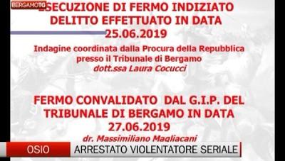Osio Sotto: arrestato violentatore seriale. L'intervista al Comandante Paolo Storoni