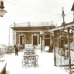 Quelle estati di un secolo fa al caffè Belvedere di Città Alta