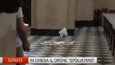 Ragnatele sulle vetrate della chiesa   A Seriate a pulire ci pensano i droni