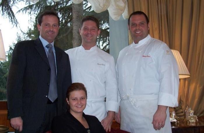 I fratelli Cerea , titolari del ristorante Cantalupa di Brusaporto