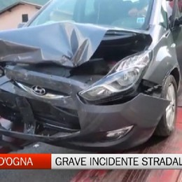 Villa d'Ogna, incidente stradale con due feriti gravi