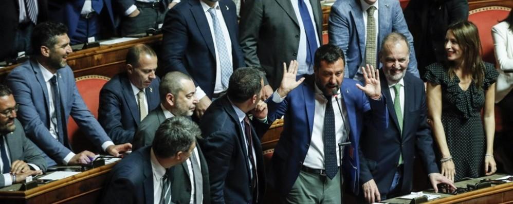 Crisi, Lega battuta in Aula Conte al Senato martedì 20