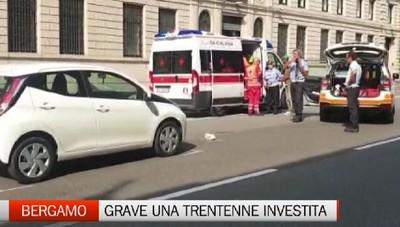 Giovane investita in viale Roma Bergamo, 30enne in gravi condizioni