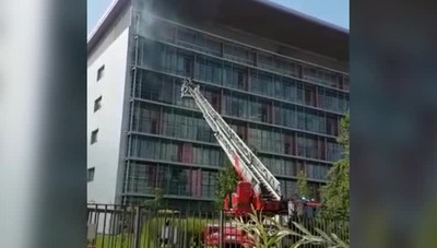 Incendio all'ospedale Papa Giovanni