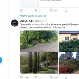«Ciao Bergamo», Feltri trasloca a Milano Casa in vendita con un Tweet