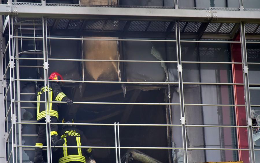 L'intervento dei Vigili del fuoco al Papa Giovanni